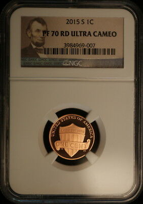 2015 S Lincoln Shield Penny NGC Proof 70 RD Ultra Cameo Brown Label