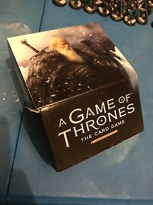 Old bear Mormont promo deck box Game Of Thrones Lcg FFG