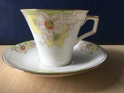 Fenton Daffodil Cup & Saucer Vintage China