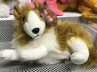 TY beanie babies CASSIE COLLIE DOG EXCELLENT CONDITION!! MINT TAG