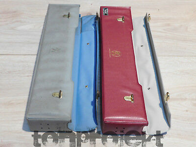 2x vintage case Hülle rot + grau Vinyl für HOHNER MELODICA PIANO26 usw 1960s