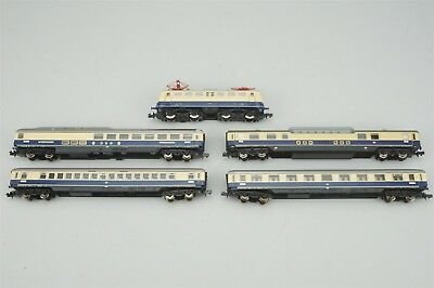 N Scale SET Arnold DSG Rheingold European Passenger Train w/ Electric Locomotive