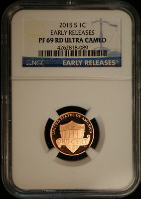 2015 S Lincoln Shield Penny NGC Proof 69 RD Ultra Cameo Early Release Label