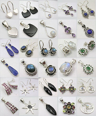 Wholesale! 925 Solid Silver Earrings Pendants 15 Sets!