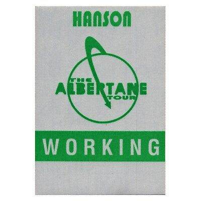 Hanson authentic Working 1998 tour Backstage Pass