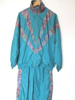 Vintage Full Shell Suit Retro Festival Tracksuit Size Approx  L