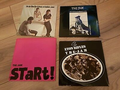 "The Jam 4 x 7"" vinyl singles Start Funeral Pyre Eton Rifles When Youre Young"
