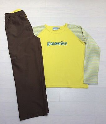 "Brownies Uniform Long Sleeve Top Size 30 "" & Trousers 26"" Age 10 11 12"