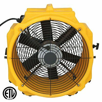 Zoom Ventilation Fan Air Mover 1/4 hp Floor Dryer Commercial Quality Axial Fan