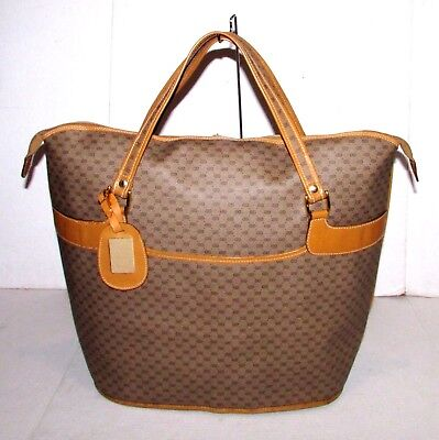 Authentic Vintage GUCCI Duffel Carry On Travel Bag Overnight Suitcase Luggage