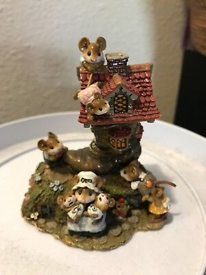 Wee Forest Folk Little Mice Who Lived in a Shoe M-189. This is new and signed.