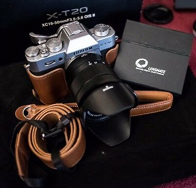 Lightly Used Fujifilm X-T20 with 16-50mm, Lensmate Thumb Grip, Leather Case