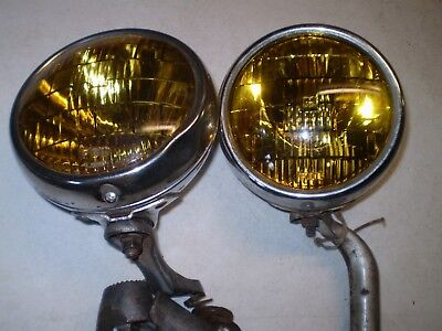 1949-50-51-52-53-54 Chevy Gm B-L-C Fog Lights Pair Original 5 3/4 Inch 2002-C