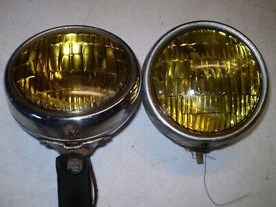 1949-50-51-52-53-54 Chevy Gm B-L-C Fog Lights Pair Original 5 3/4 Inch
