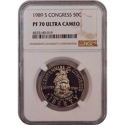 1989 S NGC PF70 Clad Bicentennial OF The Congress 50C Half Dollar Coin