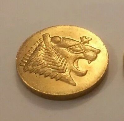 Lydian Kingdom Facsimile Coin Lydia Lion Worlds First Ever Coin - Gold Coloured
