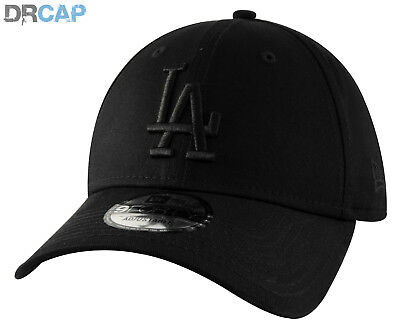New Era Kids 9Forty Curved Peak La Dodgers Adjustable Black Baseball Caps