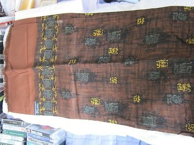 Vintage - TOOTAL - Mens SCARF - Retro MOD Design - Brown / Mustard / Green