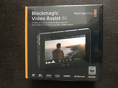 "Blackmagic Design Video Assist 4K - 7"" Monitor Recorder - Brand New Sealed"