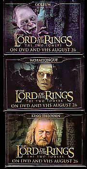 Lord Of The Rings:two Towers-3 Pin Vhs/dvd Release Set