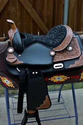 """15"""" Western Light Weight Pleasure/trail Synthetic Saddle-Black"""