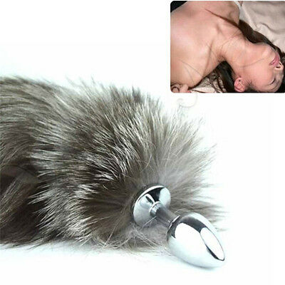 Funny Love Faux Fox Tail Butt Anal Plug Sexy Romance Insert Sex Adult Tool SW