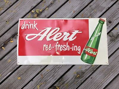 Vintage Alert soda sign late 1950's early 1960's made in the USA VERY RARE