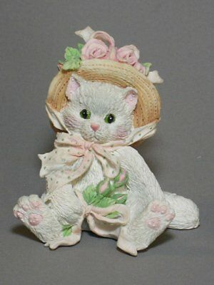 OUR FRIENDSHIP BLOSSOMED FROM THE HEART Calico Kittens Figurine NEW Never Displa