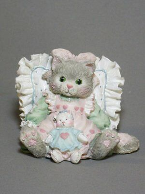FRIENDS ARE CUDDLES OF LOVE Calico Kittens Figurine New Never Displayed!  MINT
