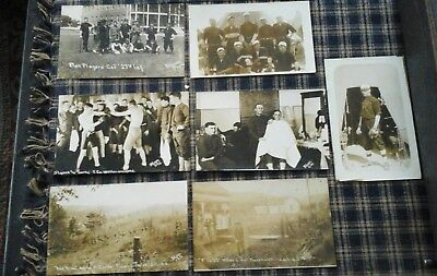 23rd Infantry 1912 Real Photo Allison Postcards French Lick Indiana Baseball Box