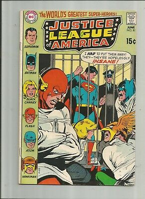 Justice League Of America #81 4.5-5.5 Free Comb Shipping