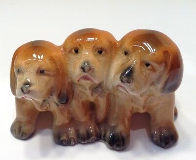 Vtg Beswick England Porcelain 3 Puppy, Dogs # 917