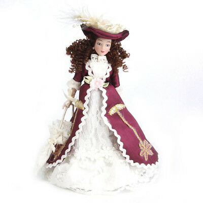 1:12 Miniature porcelain doll house dolls Senora clasica with sombrero 1pz K5D2