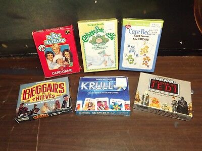 Vintage Parker Brothers: Card Game Lot . Dukes Of Hazard, Star Wars, Plus