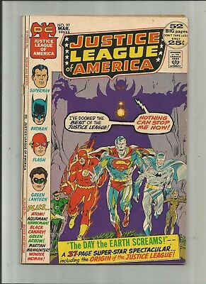 Justice League Of America #97 4.0-5.0 Free Comb Shipping