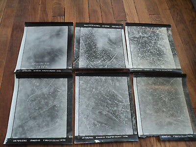 Lot of 6 Original US Aerial Intelligence Survey Prints From WWII Arnsberg 1