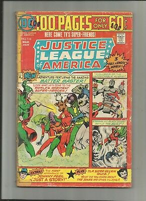 Justice League Of America #116 Dc 100 Page 2.0-3.0 Free Comb Shipping