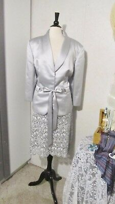 Mother Of The Bride Dress by Tahari-Size 22W-Silver Ice Lace Skirt/ Solid Jacket