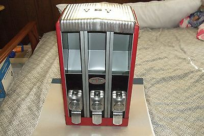 ORIGINAL Art Decco style1940's HOLLI-WARE SUGAR BOWL TRIPLE 1 cent candy machine