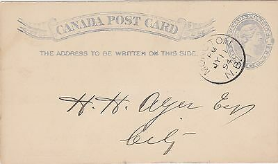 Canada Post Card Oddfellow's Hall NB. Protection Lodge 6, A.O.U.W. 1894 Moncton