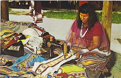 Indian Apparel, Indian Village, Tamiami Trail, Florida Everglades. Circa 1970 PC