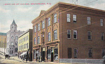Library & Art Building, Sherbrooke, QC. Montreal Import Co. Circa 1920 Postcard