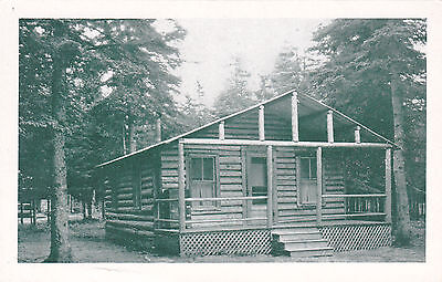 Parlin Dam Camps, Log Cabin, Jackman Station, ME. G.W. Verrill Photo. Circa 1930