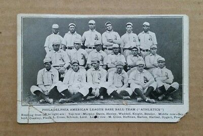 Philadelphia Athletics,Baseball Team Postcard,VINTAGE 1905
