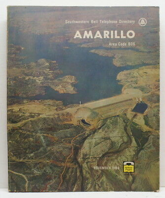 1966 Amarillo Texas Telephone Book White ad Yellow Pages Southwestern Bell