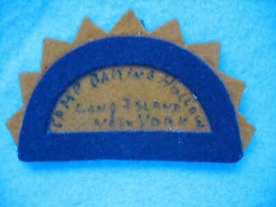 Vintage BSA Camp Baiting Hollow Long Island New York wool patch.