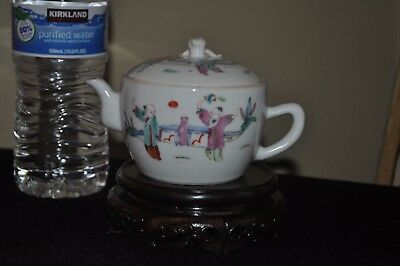 Fine Antique Chinese Famille Rose Porcelain Lidded Teapot