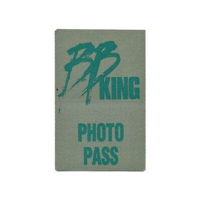 BB King authentic Photo tour Backstage Pass