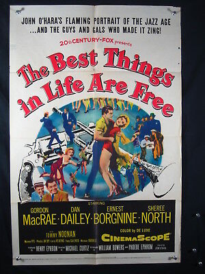 Best Things In Life Are Free-Orig Poster-Sheree North Vg