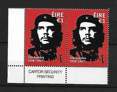 2017     MNH     CHE GUEVARA €1 ISSUE corner PAIR with imprint   Pair of Stamps